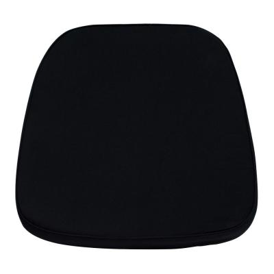 Soft Black Fabric Chiavari Chair Cushion