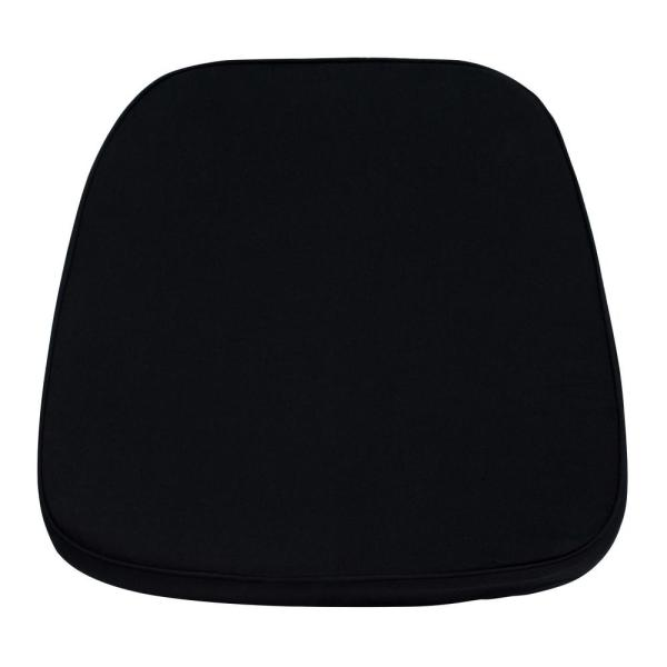 Flash Furniture Soft Black Fabric Chiavari Chair Cushion