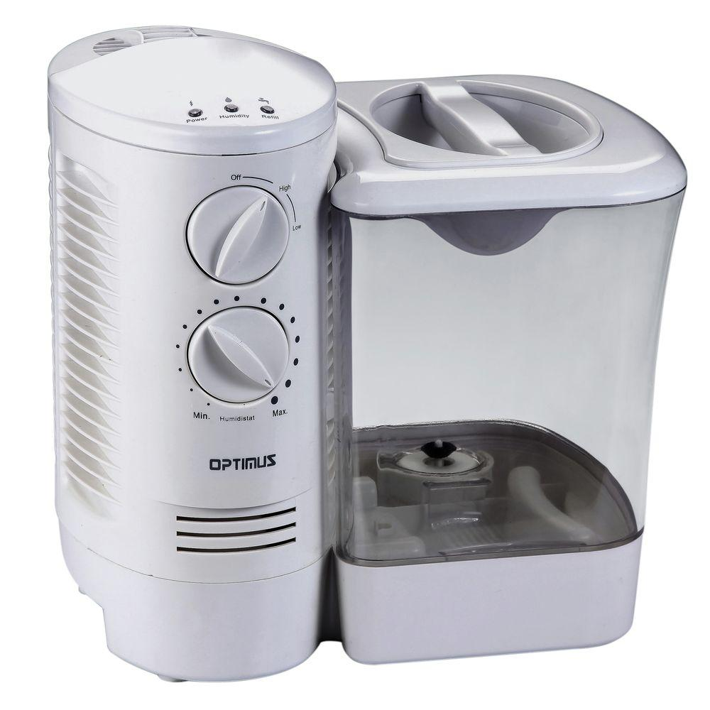Optimus 2.5 gal. Warm Mist Humidifier with Wicking Vapor ...