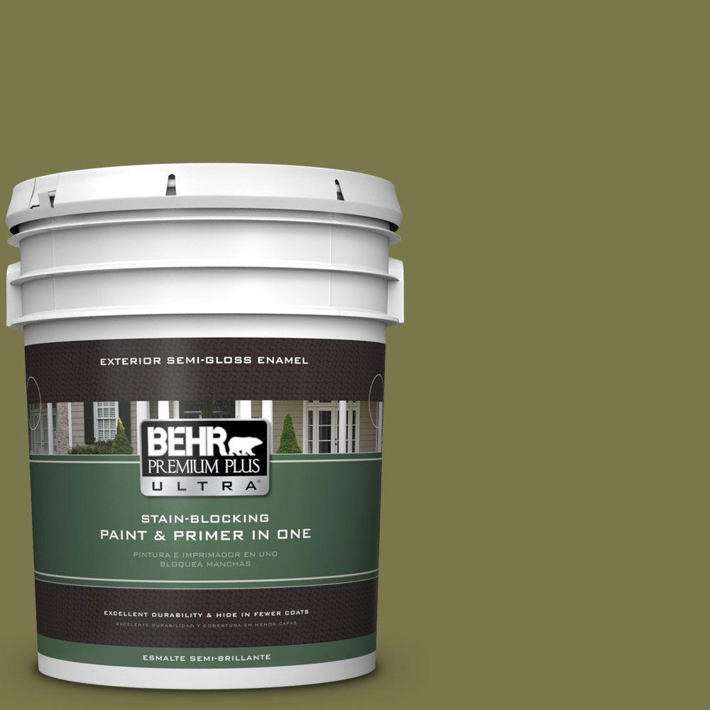 BEHR Premium Plus Ultra 5-gal. #S340-7 Tree Hugger Semi-Gloss Enamel Exterior Paint