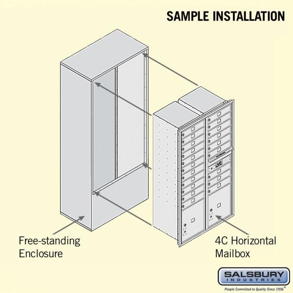 Reviews For Salsbury Industries 3900 Horizontal Series 20 Compartment 2 Parcel Locker Free Standing Mailbox 3916d 20afu The Home Depot