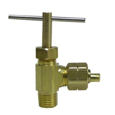 1/4 in. OD Compression x 1/8 in. MIP Brass 90-Degree Elbow Valve Fitting