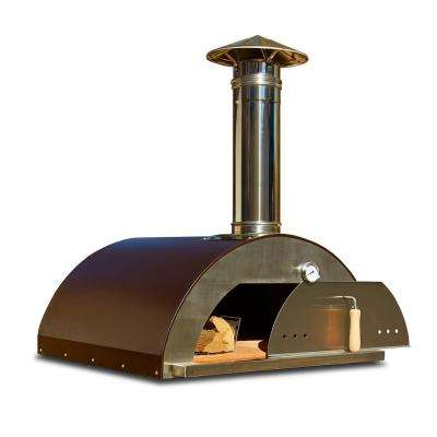 Nonno Peppe 32 in. Wood Burning Outdoor Pizza Oven in Hammered Copper