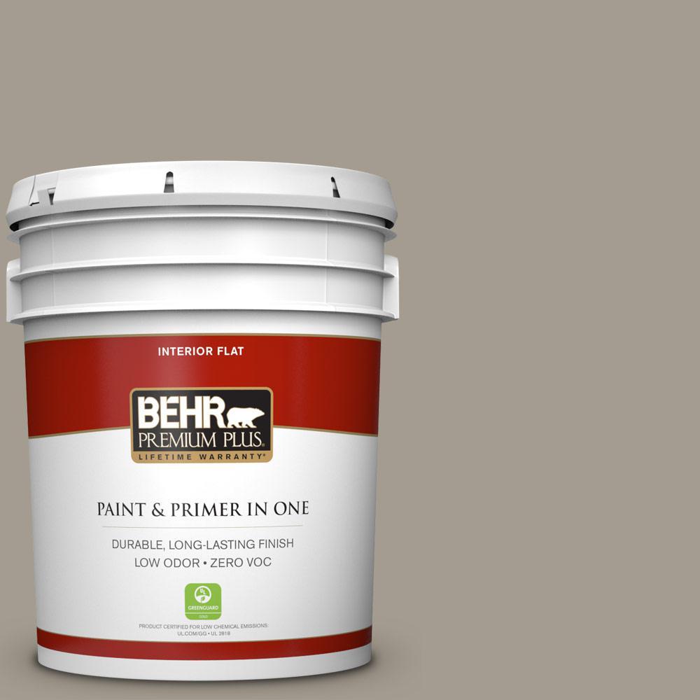 BEHR Premium Plus 5-gal. #720D-4 Ashwood Zero VOC Flat Interior Paint