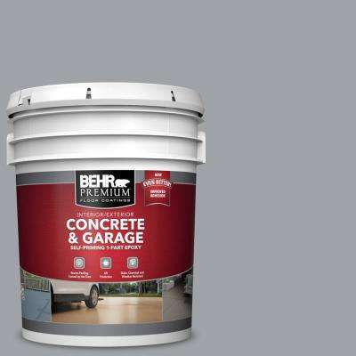 5 gal. #N530-4 Power Gray Self-Priming 1-Part Epoxy Satin Interior/Exterior Concrete and Garage Floor Paint