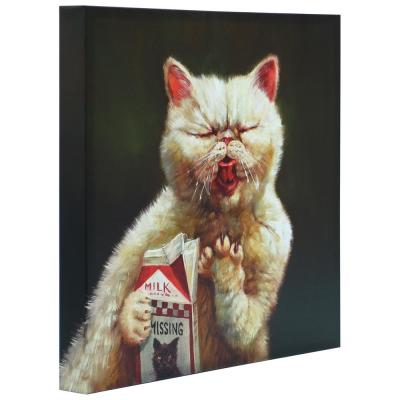 """""""Sour Milk"""" Graphic Art Print on Wrapped Canvas Cat Wall Art"""
