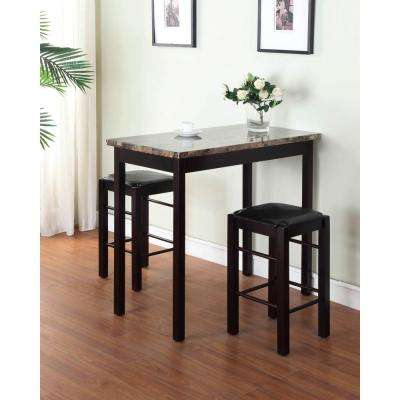 Tavern 3-Piece Espresso Bar Table Set