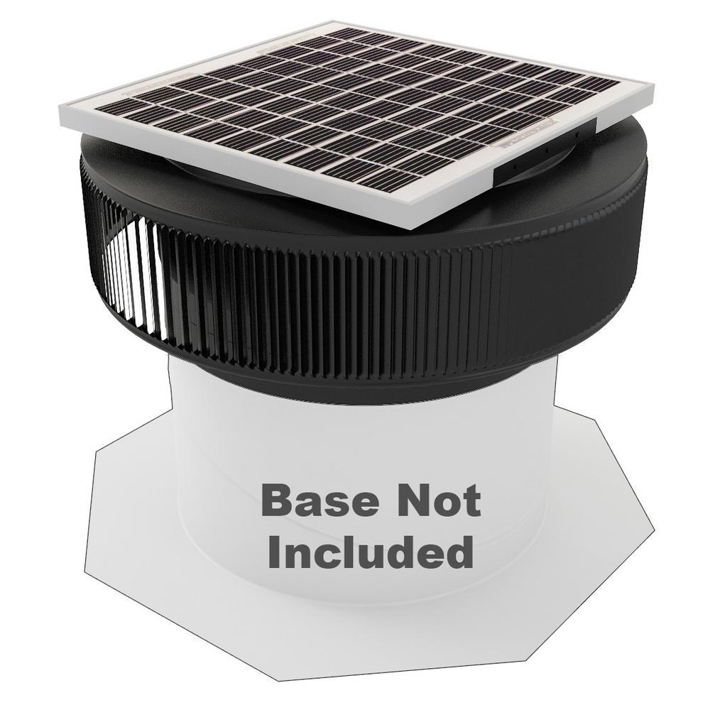 1007 CFM Black Powder Coated 15-Watt Solar Powered 14 in. Dia Retrofit Attic Roof Fan