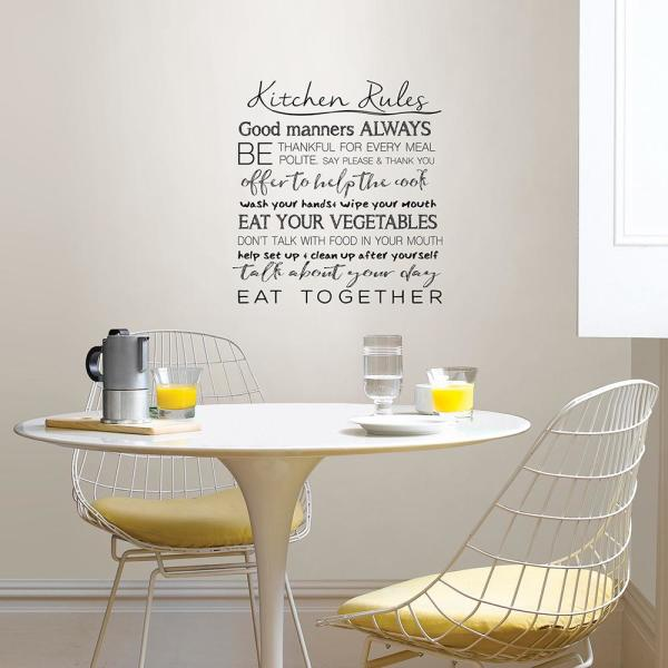 Kitchen Rules Wall Quote Decal Dwpq2938