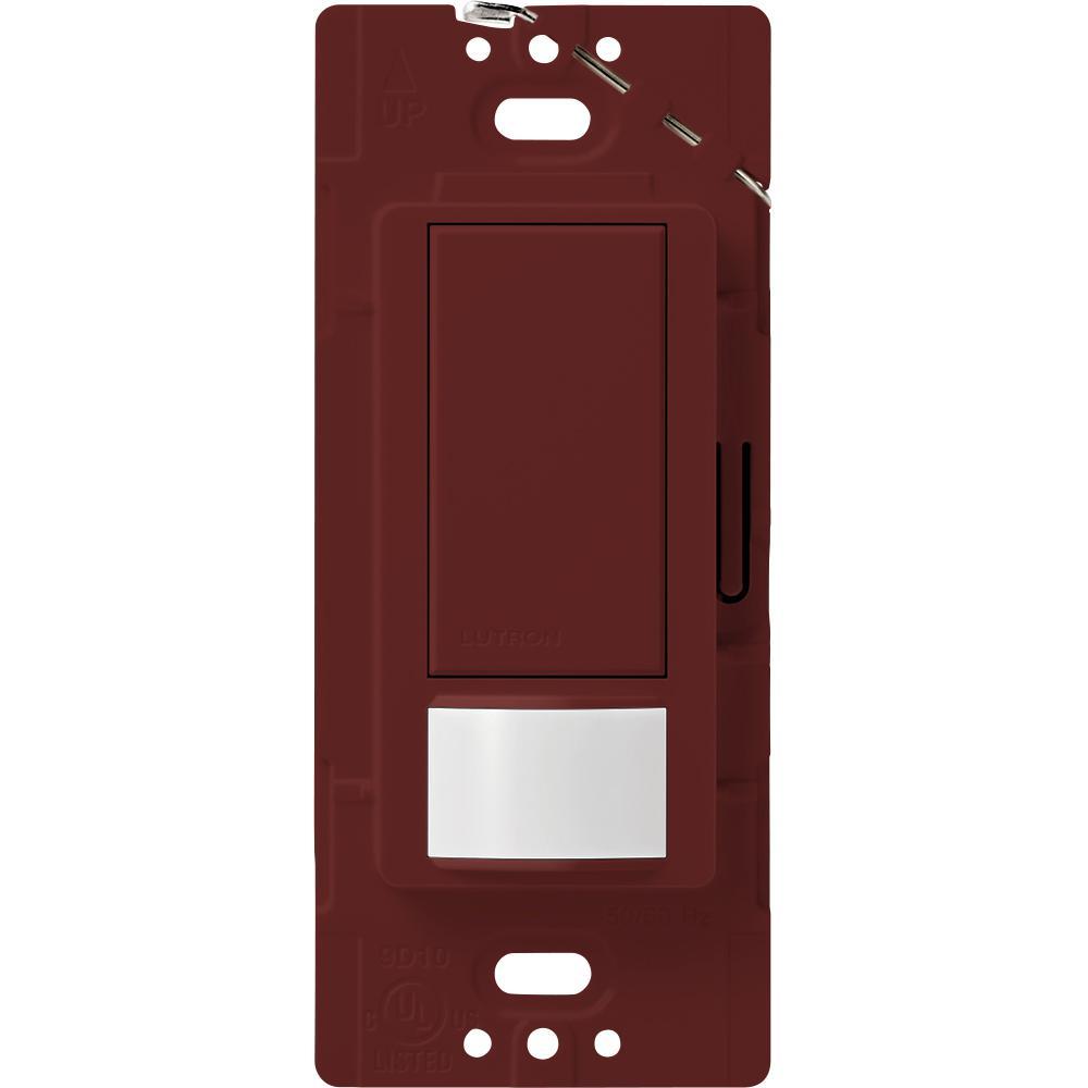 Maestro Motion Sensor Switch, 2-Amp, Single-Pole, Merlot