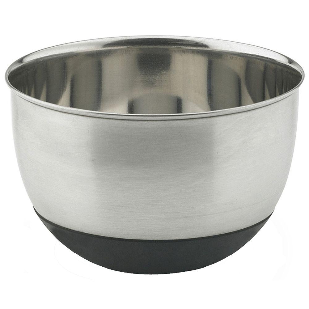 Vinaroz Stainless Steel Collection 3 qt. Mixing Bowl with Silicon Base-DISCONTINUED