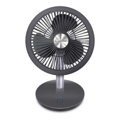 7 in. Rechargeable Cordless Portable Desk Fan - 4-Speed Settings - 12 Hour Run Time