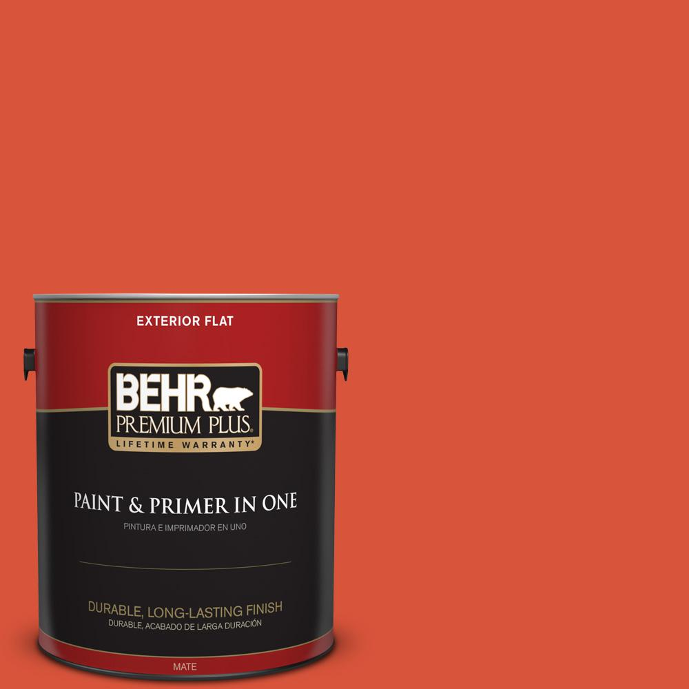 1 gal. #HDC-MD-10G Mod Orange Flat Exterior Paint