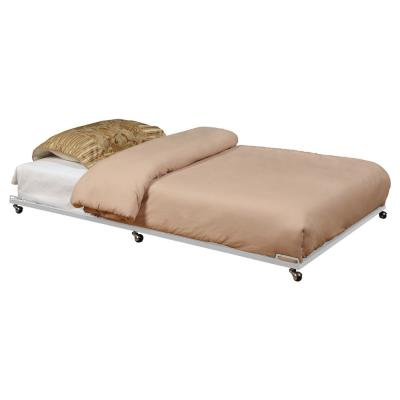 Cream Metal Twin Size Trundle Bed Frame for Daybed