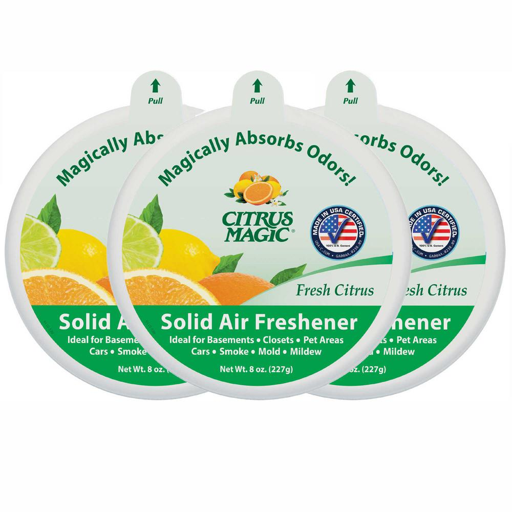 Fresh Citrus Solid Odor Absorbing Air Freshener (3 Pack