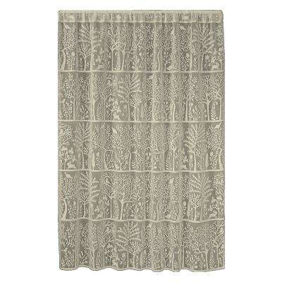 Rabbit Hollow Caf Lace Curtain 60 in. W x 84 in. L