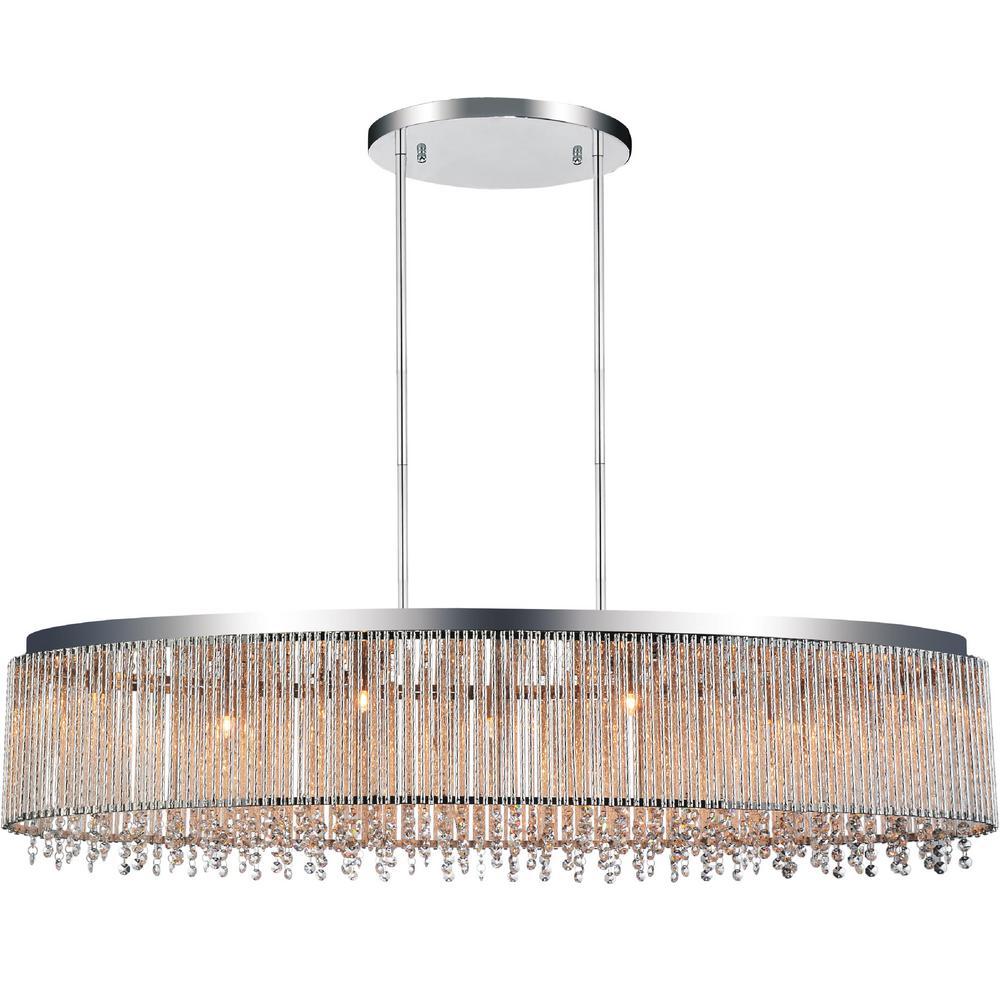 Claire 7-light chrome chandelier