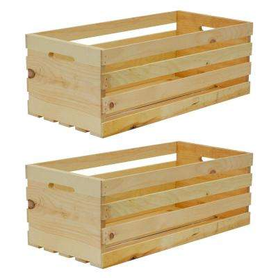 27 In. X 12.5 In. X 9.5 In. X Large Wood Crate