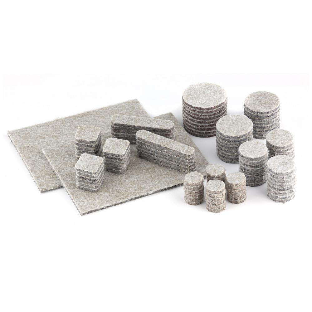 Assorted Beige Felt Pads (105-Pack)