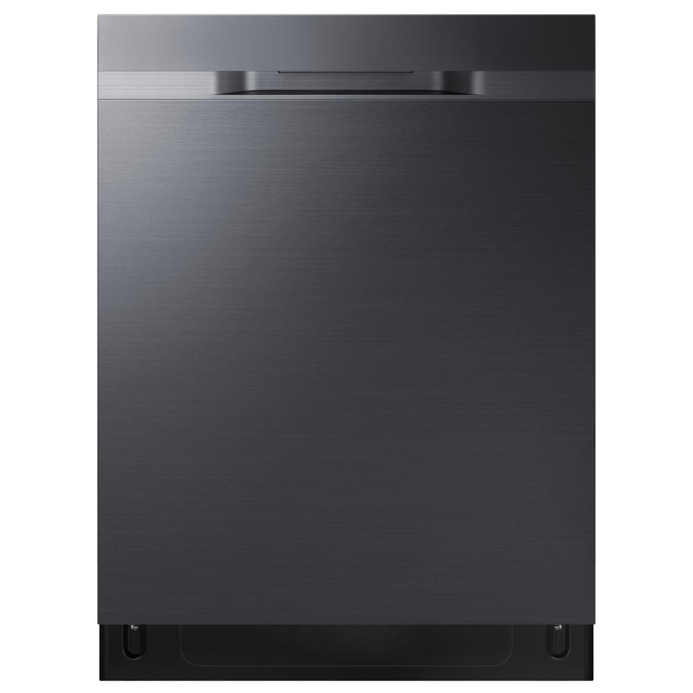 Samsung 24 in Top Control StormWash Tall Tub Dishwasher in Fingerprint Resistant Black Stainless with AutoRelease Dry, 48 dBA