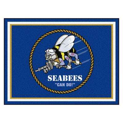 U.S. Navy - SEABEES Ultra Plush 8 ft. x 10 ft. Area Rug