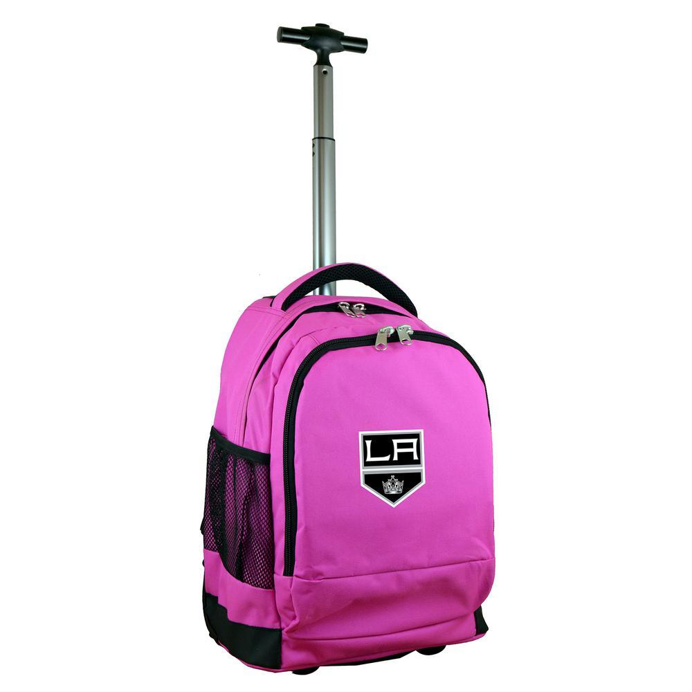 Denco NHL Los Angeles Kings 19 in. Pink Wheeled Premium Backpack