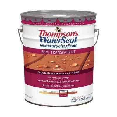5 gal. Semi-Transparent Sequoia Red Waterproofing Stain Exterior Wood