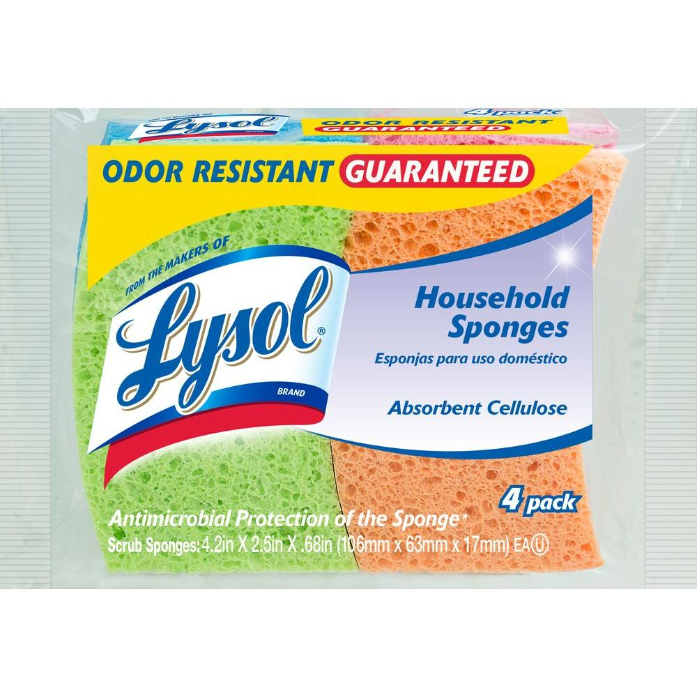 Odor Resistant Cellulose Sponges (4-Pack)