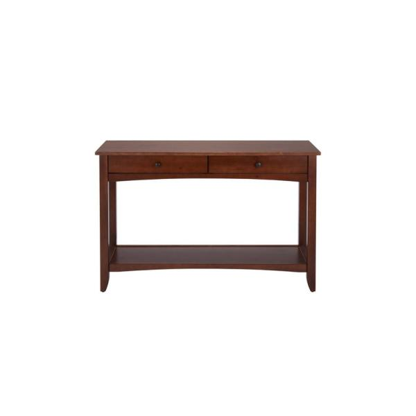 Linon Home Decor Sara 44 In Black Standard Rectangle Wood Console Table With Drawers Thd01911 The Home Depot