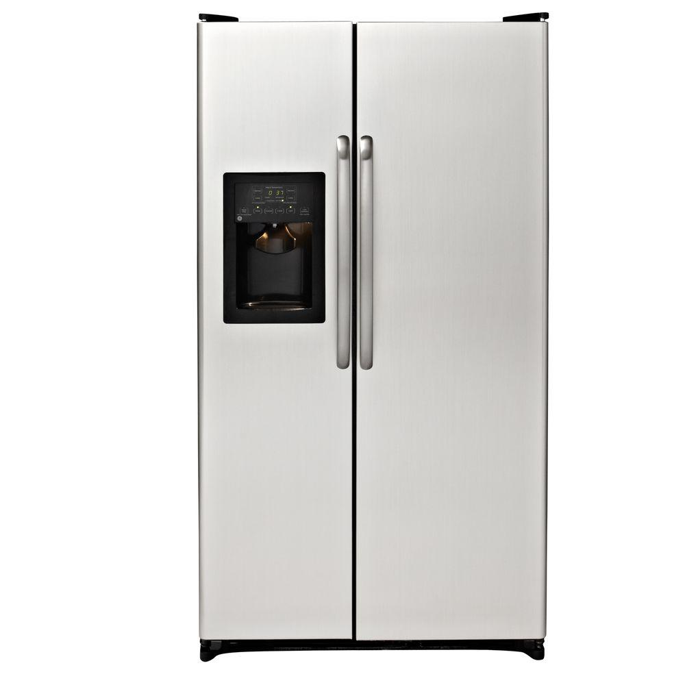 GE 25.3 cu. ft. Side by Side Refrigerator in CleanSteel