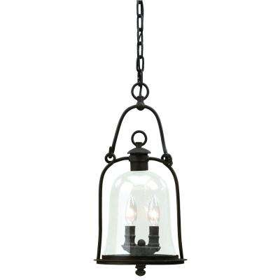 Owings Mill 2-Light Natural Bronze Outdoor Pendant