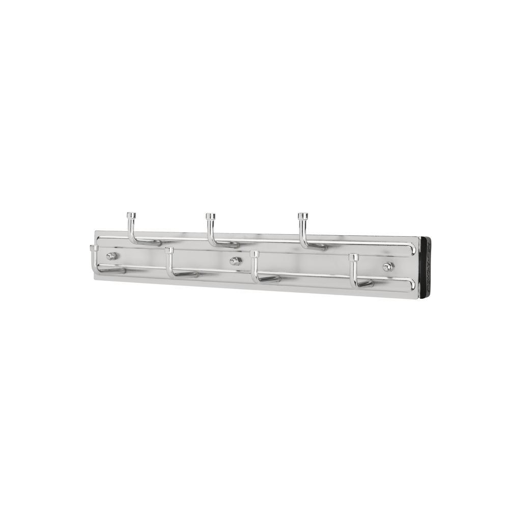 Rev-A-Shelf 7-Hook Chrome Pull-Out Side Mount Belt Rack