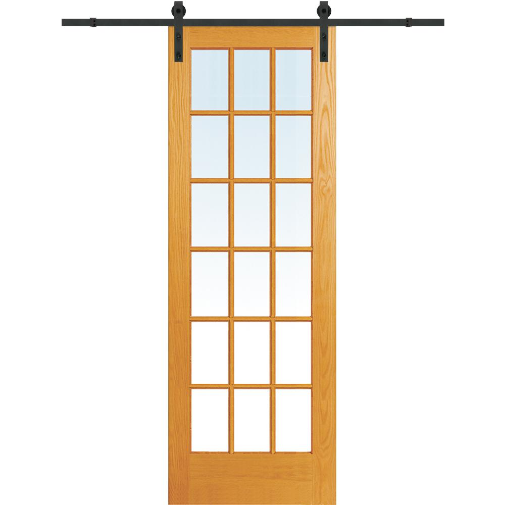 32 x 84 barn doors interior closet doors the home depot 30 in x 96 in clear true divided 18 lite unfinished planetlyrics Image collections