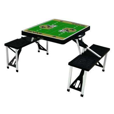 New Orleans Saints Sport Plastic Outdoor Patio Picnic Table