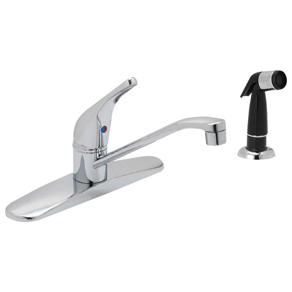 Prestige Collection Single-Handle Standard Kitchen Faucet with Side Sprayer in