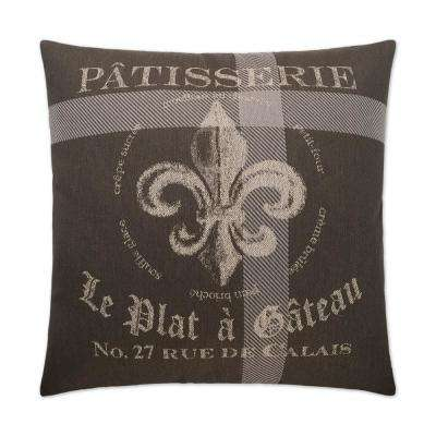 Patisserie Feather Down 24 in. x 24 in. Standard Decorative Throw Pillow
