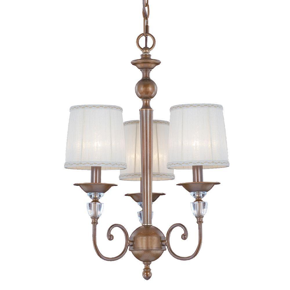 Locksley Collection 3-Light Antique Bronze Chandelier