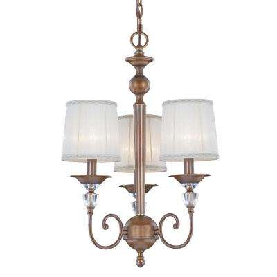 Locksley Collection 3-Light Antique Bronze Chandelier