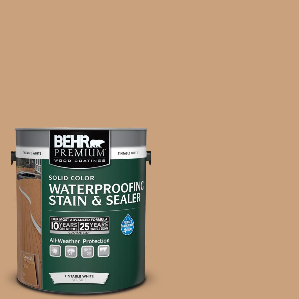 1 gal. #270F-4 Peanut Butter Solid Color Waterproofing Exterior Wood Stain