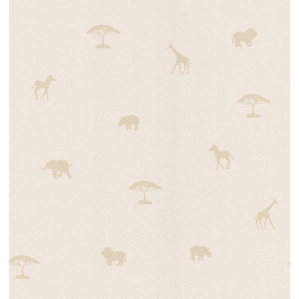 National Geographic Beige Animal Spot Wallpaper Sample