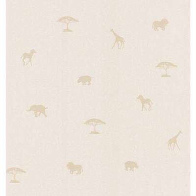 Beige Animal Spot Wallpaper Sample