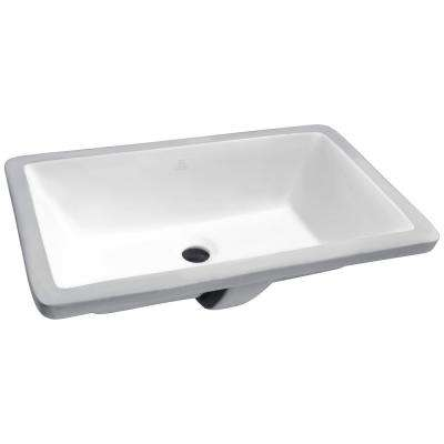 Rhodes Series 7 in. Ceramic Undermount Sink Basin in White