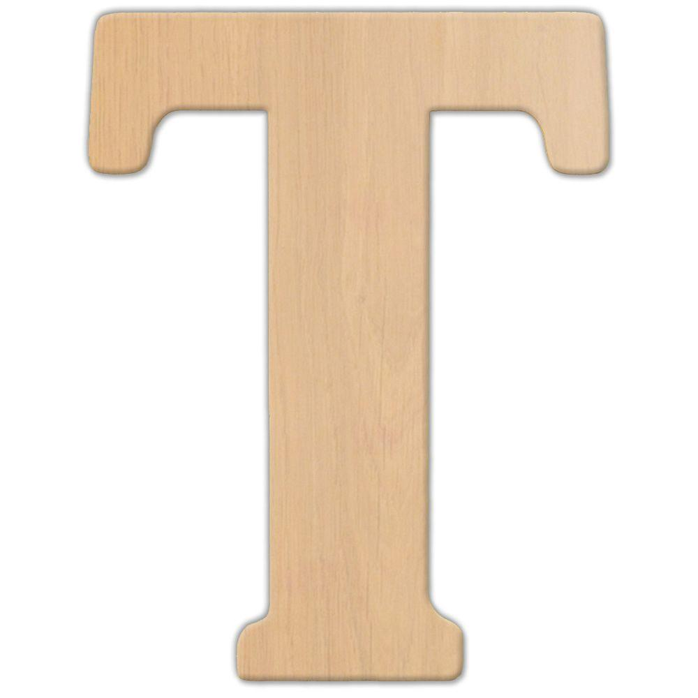 Jeff McWilliams Designs 15 in. Oversized Unfinished Wood Letter (T)