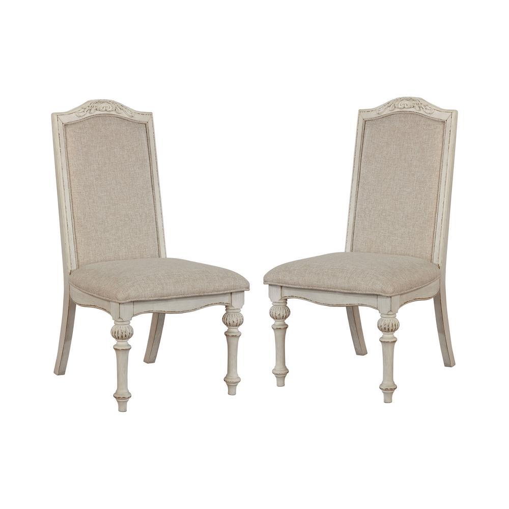 Willadeene Antique White Side Chairs (Set of 2)