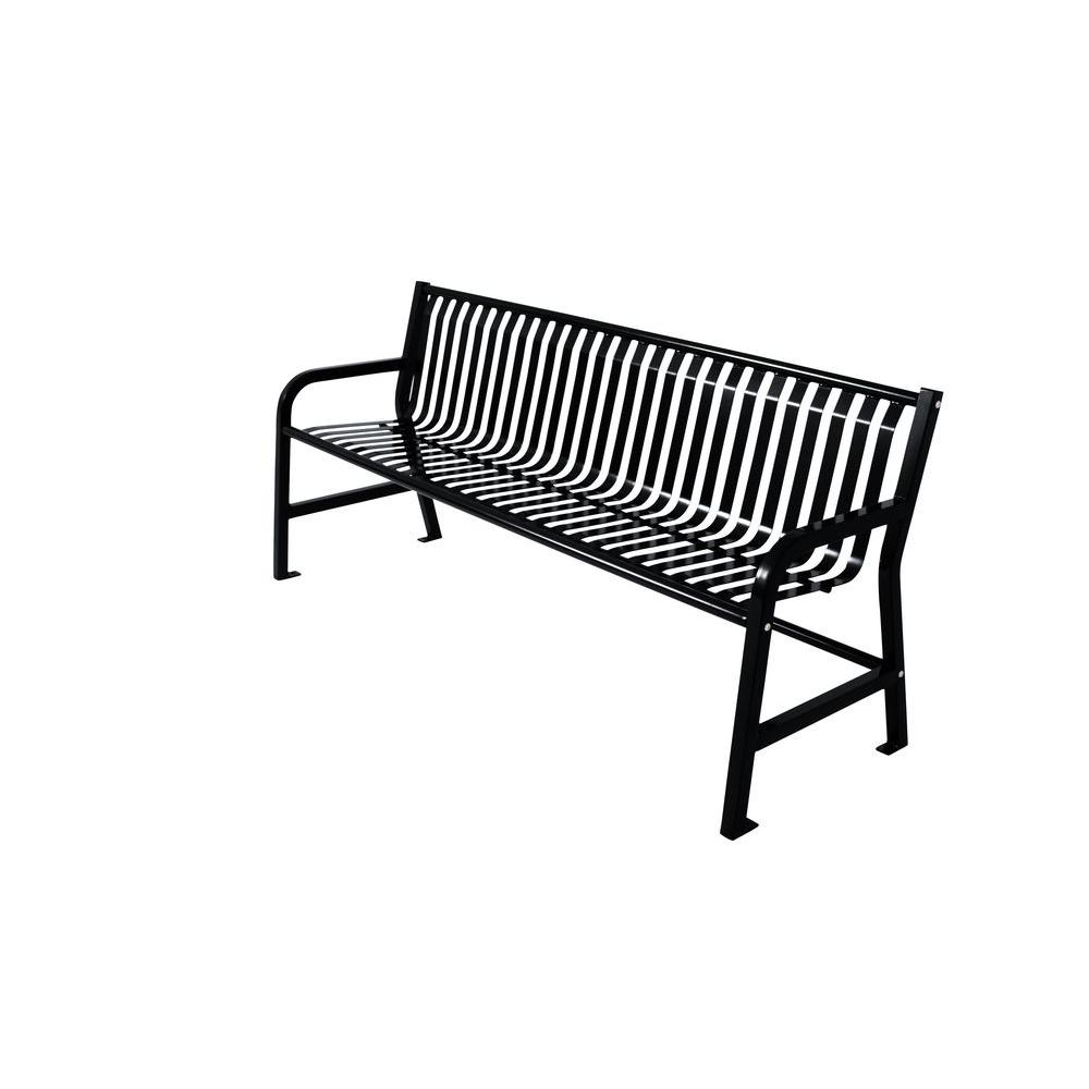 Outstanding Ultra Play Jackson 6 Ft Bench With Back In Black Ibusinesslaw Wood Chair Design Ideas Ibusinesslaworg