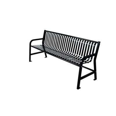 Jackson 6 ft. Bench with Back in Black