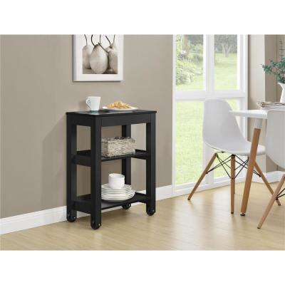 Parsons Wide Storage Cart in Black