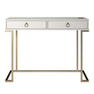 Pru White Writing Desk