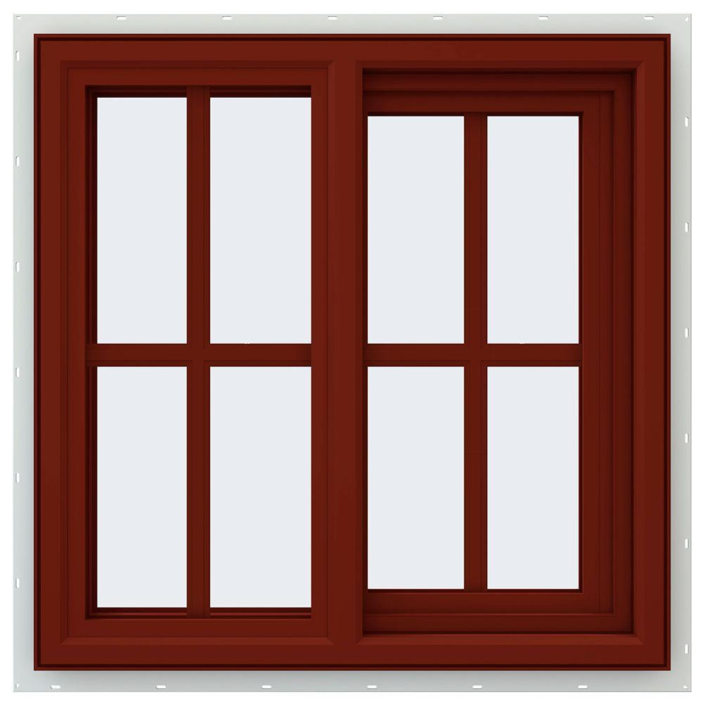 23.5 in. x 23.5 in. V-4500 Series Right-Hand Sliding Vinyl Window