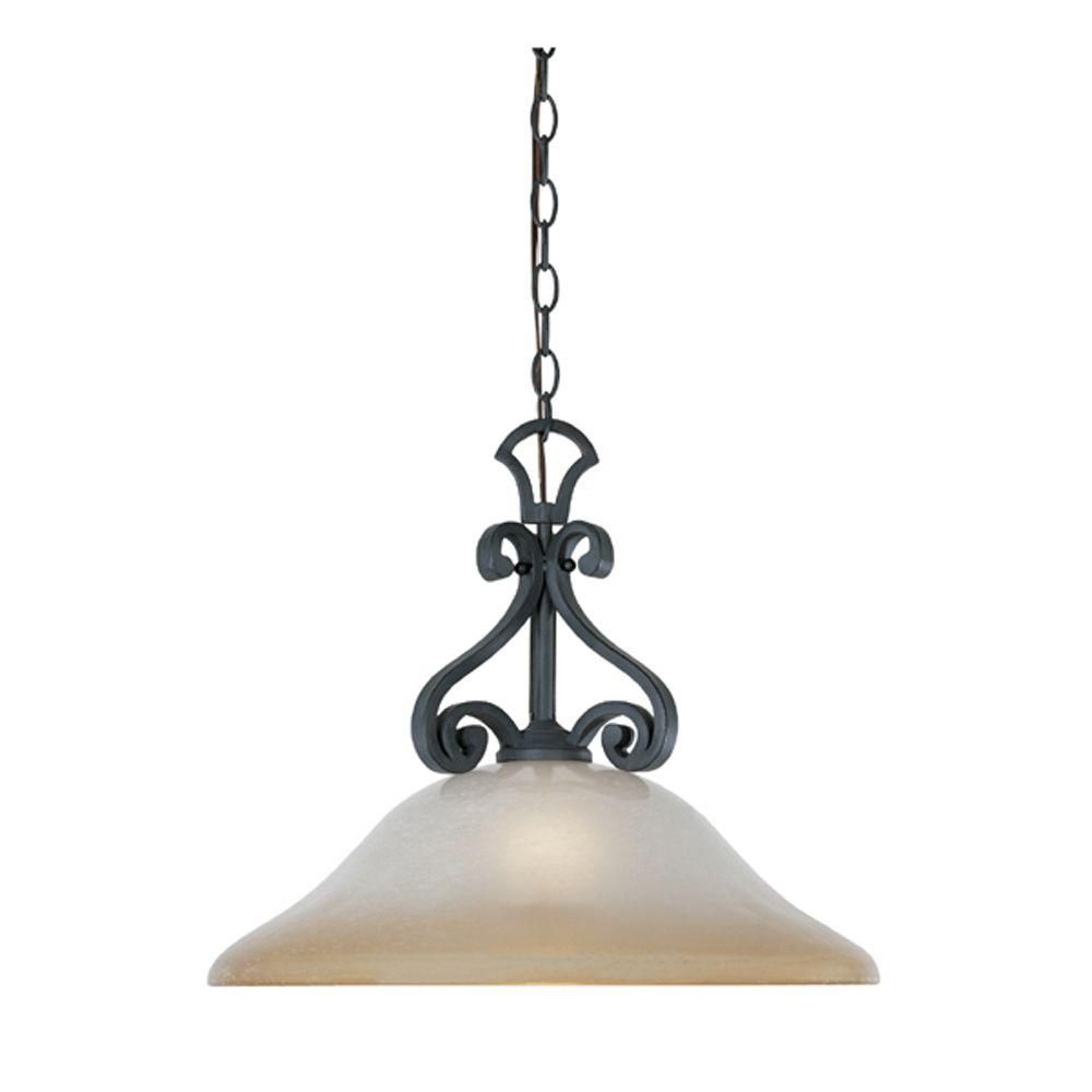 Monte Carlo 1-Light Natural Iron Hanging Pendant